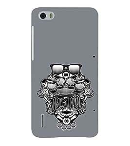 EPICCASE Funky devil Mobile Back Case Cover For Huawei Honor 6 (Designer Case)