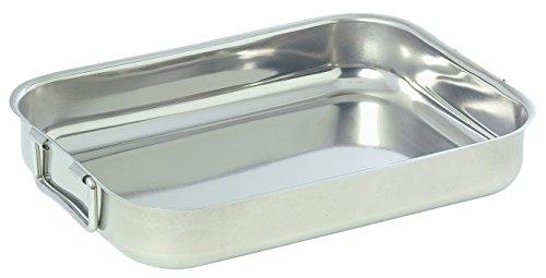 Plat à four inox Baumalu - Longueur 30 cm - Largeur 22 cm
