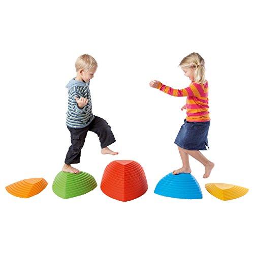 Hügelkuppen-Set, Balance Spiel, Balancierspiel, Kinder, Kindergarten, 5-tlg.