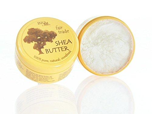 fair shea - Shea Butter unraffiniert 100{20e43d20db5a8b8878237cf10299b47bdc834618a73343913319b0bc60da29f9} pur fair gehandelt (150g Dose)