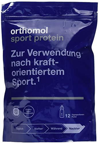 Orthomol Sport Protein - Schoko Proteinshake aus Molkeprotein Isolat Pulver - Proteinpulver mit BCAA & Kreatin - Nahrungsergänzungsmittel Muskelaufbau