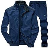 MANLUODANNI Ensemble Survêtement Homme Pantalon Sweat Jogging 2019 Set Bleu XL