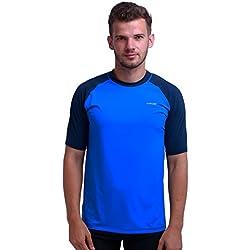 H.MILES Rashguard Homme Manches Courtes Protection Solaire UV (UPF) 50+ Anti-UV Haut Surf Plage Natation Plongée T-Shirt Neoprene