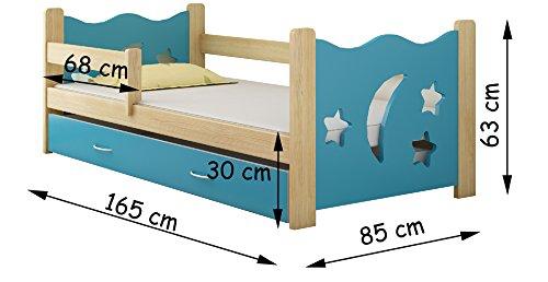 clamaro sternenhimmel kinderbett komplett set 160 x 80 cm inkl matratze lattenrost und. Black Bedroom Furniture Sets. Home Design Ideas