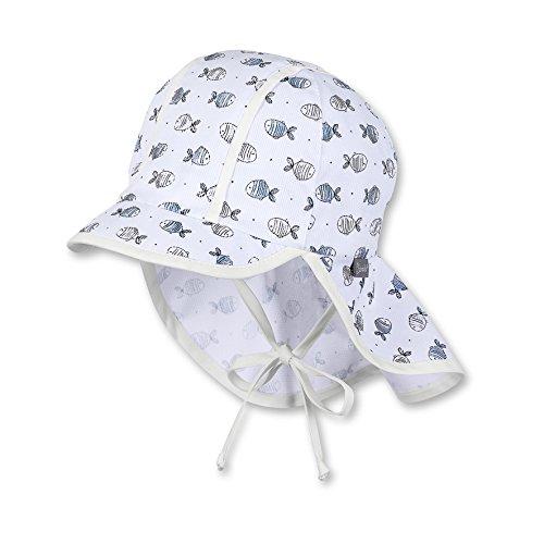 Sterntaler Baby-Jungen Mütze Schirmmütze m. Nackenschutz, Weiß (Weiss 500), 45