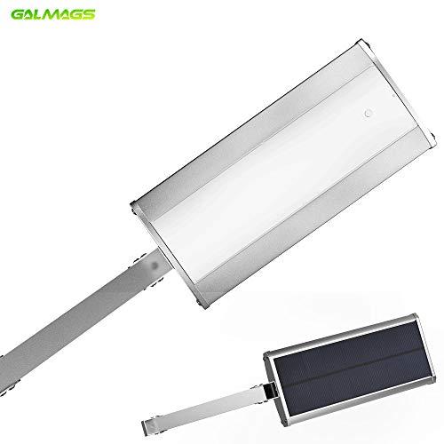 Lichtmast Licht (Galmags Aluminium LED Solar Lichter Radar Bewegungsmelder mit 48LED 3000mah 800lm [Lichtmast] IP65 Wasserdichte solarbetriebene Außenwandleuchte für Garten Licht Hofweg)