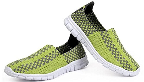 DADAWEN Chaussures de Course pour Mixte Adulte Vert