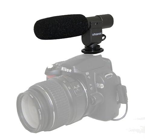 Polaroid Pro Video Condenser Shotgun Microphone For Digital SLR Cameras