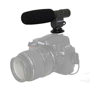 Micro condensateur vidéo pro à poignée revolver par Polaroid pour l'Canon numérique EOS Rebel T3 (1100D), T3i (600D), T1i (500D), T2i (550D), XSI (450D), XS (1000D), XTI (400D), XT (350D), 1D C, 60D, 60Da, 50D, 40D, 30D, 20D, 10D, 5D, 1D X, 1D, 5D Mark 2, 5D Mark 3, 7D reflex numériques