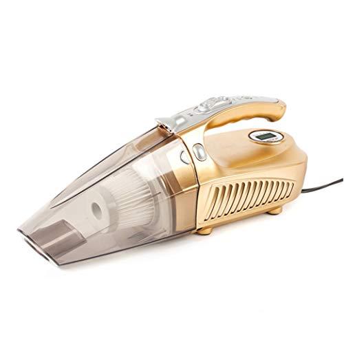 YN Handstaubsauger, Auto Staubsauger, Deodorant, nass und trocken, 12V, Vier-in-One-Power, Luftpumpe Nass und Trocken Starker SOG (Farbe : Gold)