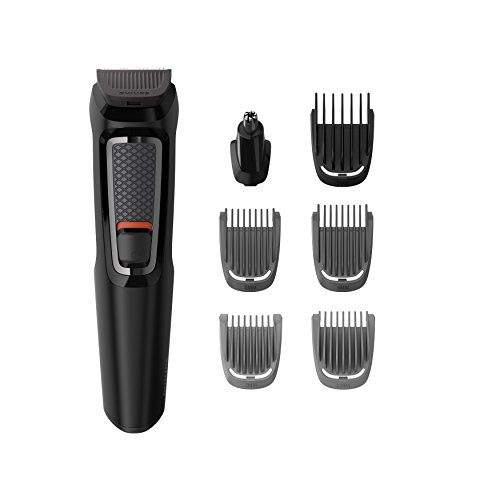 Philips Series 3000 7-in-1 Multi Grooming Kit for Beard & Hair with Nose Trimmer Attachment - MG3720/13