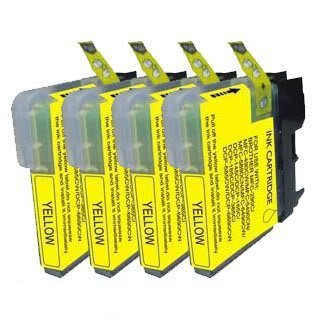 Brother Dcp 165c - 4 Jaune Compatible Brother LC980Y / LC1100Y