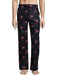 ea324e424d482e Marvel Spiderman Men's Big & Tall Microfleece Pajama Pants Lounge Sleep  Bottoms