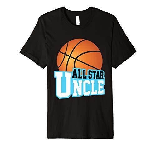 Basketball Star Uncle Fan Club Women Men Game Day T-shirt