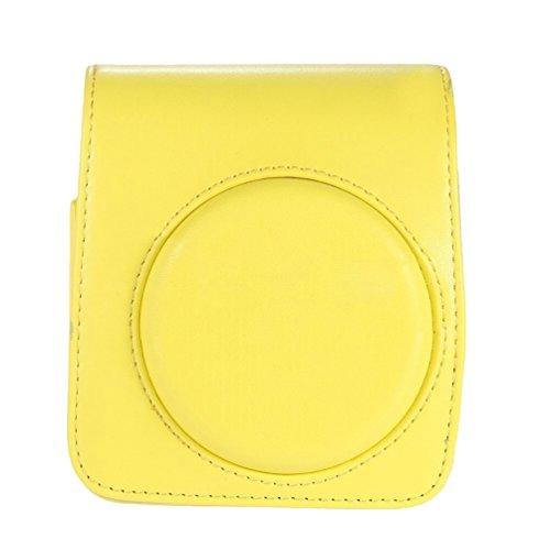Yiiquanan Mini 70 Leicht zu Tragen Sofortbildkamera Schutzhülle Verschleißfest mit Abnehmbaren Riemen (Gelb, One Size)