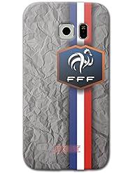 URCOVER Coque Equipe de France pour Samsung Galaxy S6 Edge | Championnat d' Europe Spécial UEFA EURO 2016 | Coque Sportif Footbal Cover Housse Étui Drapeau National
