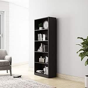 Amazon Brand - Solimo Pavo Engineered Wood Bookcase (Wenge Finish)