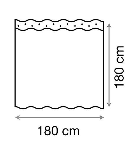 Balance Duschvorhang, inkl. 12 Ringe 180 x 180 cm - 6