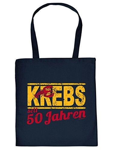 Krebs Henkeltasche Beutel mit Aufdruck Tragetasche Tote Bag Must-have Stofftasche Geschenkidee Fun Einkaufstasche (- Krebs-tote Bag)