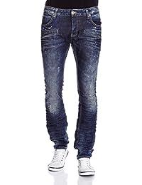 """Redbridge jeans vintage destroyed imprimé taches de couleur à l """"bleu"""