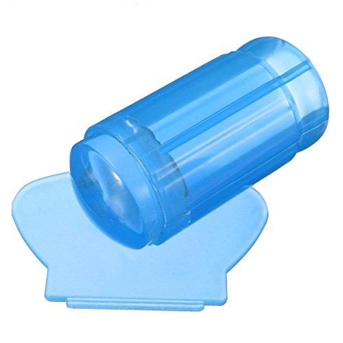 Scrox Joint de clou rond transparent bleu Outils à ongles manucure pédicure décoration des ongles