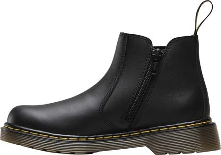 Dr Martens Banzai Y Black Leather Youth Chelsea Boots Black