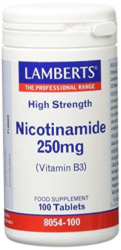 Lamberts Nicotinamida 250mg - 100 Tabletas