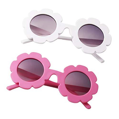 Kostüm Muster Sonnenblumen - Fenteer 2 Stücke Niedliche Kinder Mädchen Sonnenbrille Sonnenblumen Muster Brille Sommer Party Kostüm Zubehör
