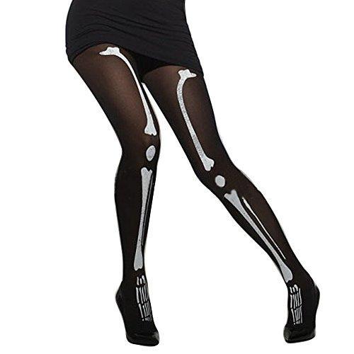 beetest -Women Damen Mädchen Skelett bedruckt Strumpfhose Leggings für Halloween Cosplay Dekoration Zubehör