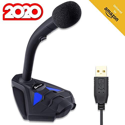 KLIMTM Voice V2 + USB Desktop-Mikrofon + Neu 2019 + Beste Klangqualität + Ideal für Gami