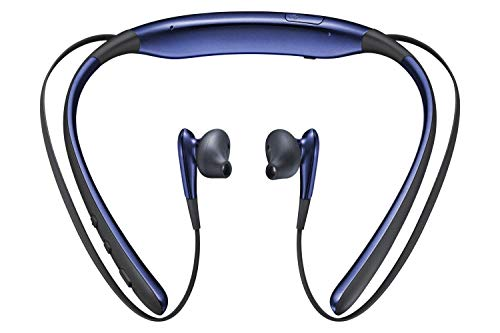 HTech Goodluck Level U Bluetooth Wireless Earphones 4.1 with Mic in-Ear Stereo Sport Neckband Headsets for All Andriod and iOS Smartphones (Blue) Image 2