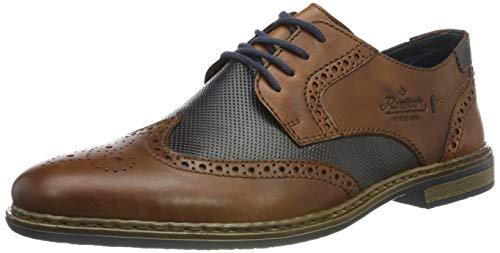 Rieker 13413-25, Zapatos Cordones Brogue Hombre, Marrón