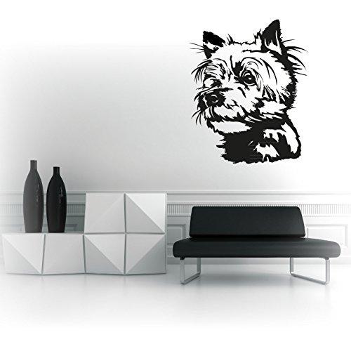 Wandaufkleber Hundeaufkleber Rasse Yorkshire Terrier Tattoo für Wände Hundesticker Wall Art |KB804W