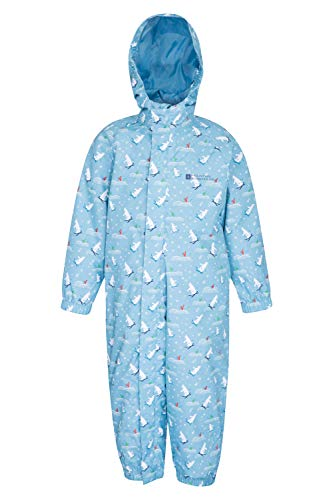 Mountain Warehouse Splash Junior 3 in 1 Kids Rain Suit - Water Resistant, Hood, Taped Seams, Detachable Fleece, Elastic Cuffs & Leg Hems - Perfect Winter Suit for Children