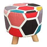 CAIJUN Fußhocker Gemütlich Sackleinen Kissen Massivholzrahmen Multifunktion Tragbar Innen Rutschfest Geschenk, 4 Farben (Farbe : B, größe : 28X28CM)