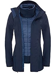 The North Face W Brownwood Triclimate Jacket - Chaqueta para mujer, color azul, talla L