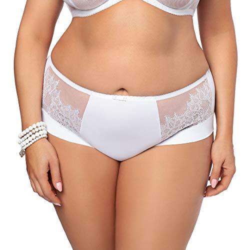Gorsenia Slip Femminile A Vita Media con Pizzo K469 White Lilly, Bianco,L