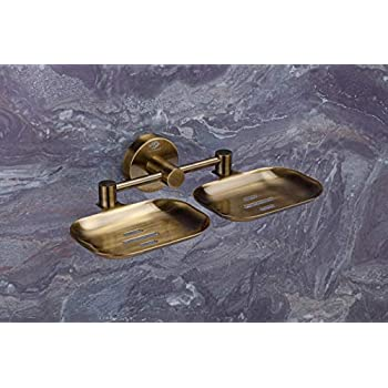 U-S-F BATH ACCESSORIES Puma 304 Stainless Steel Antique Finish Anti Rust, Corrosion-free Double Soap Dish-Bathroom Soap Holder