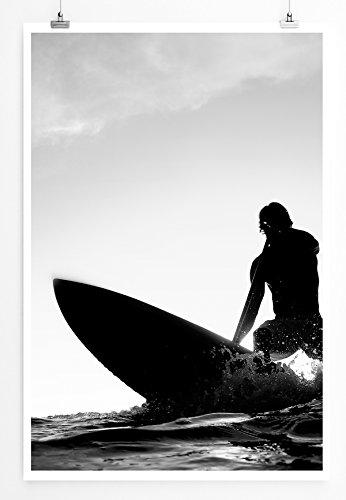 Eau Zone Home Bild - Art Fotos – Surfer Beim Wellenreiten- Poster Fotodruck in höchster Qualität