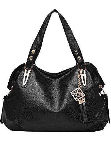 Menschwear Leather Tote Bag lucida PU nuove signore borsa a tracolla Marrone Nero