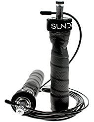 Corda per saltare esercizio fitness Jump Rope Boxing Speed rope by Sundried (include 2 cavi e custodia per il trasporto)