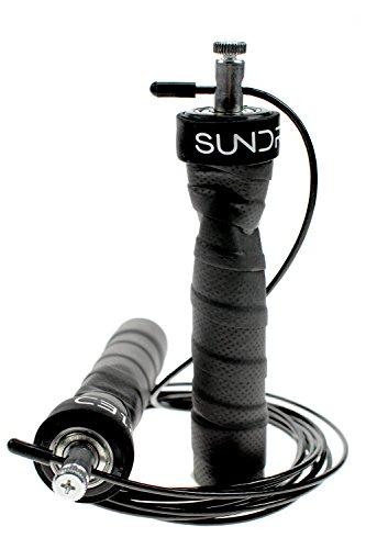 Sundried corda per saltare, per esercizi di fitness e pugilato (include 2cavi e custodia per il trasporto)