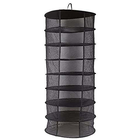 JOYOOO Hanging 8 Tier Detachable Dry Rack Hydroponic Grow Tent Herb Bud Plant Clothes Drying (Hanging Rack)