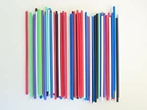 50 Mixed Colour Cake Pop Lollipop Lolly Sticks 190mm x 4.5mm (7.5 inch)