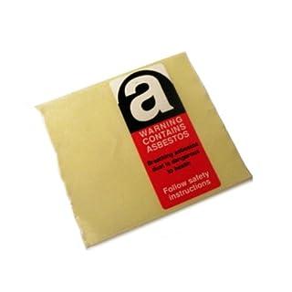 Asbestos Label 'Warning Contains Asbetos' 25x62mm (Single Label)