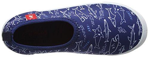 Joules Jnr Boys Pebble, Chaussures de Plage et Piscine Garçon Blue (Navy Shark Facts)