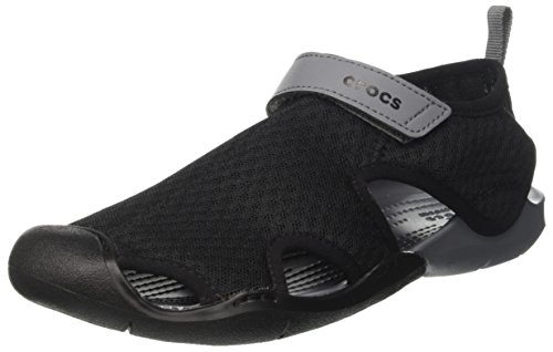 Crocs Swiftwater Mesh Sandals Women, Damen Geschlossene Sandalen, Schwarz (Black), 39/40 EU
