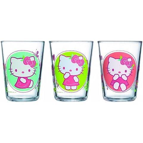 Luminarc - Set di 3 bicchieri per bambini serie Hello