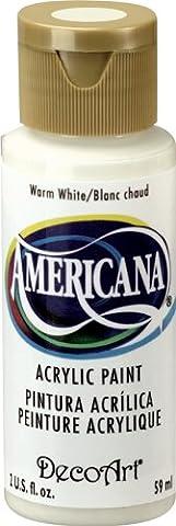 DecoArt Americana Acrylic Multi-Purpose Paint, Warm White