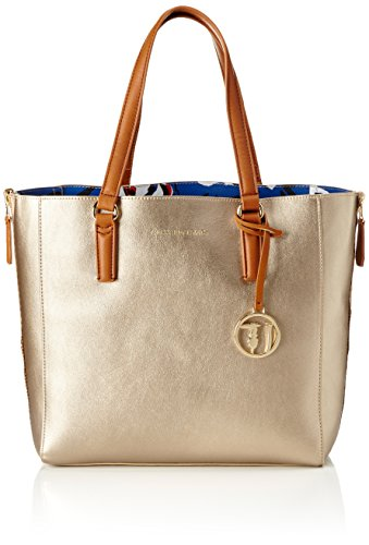 Trussardi 75b65053, Borsa Tote Donna 32x32x12 cm (W x H x L) Giallo (Gold)